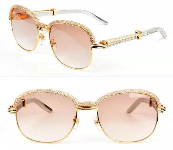 NEW Unisex Gold/White Diamond Plated Cartier Malmaison Palisander Glasses (Special Edition) (Free 3-7 Day Shipping)