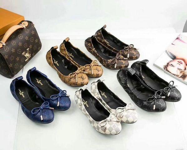 New Ladies Original Louis Vuitton Luxury Casual Shoes Catalog 5 (4 Colors Available)