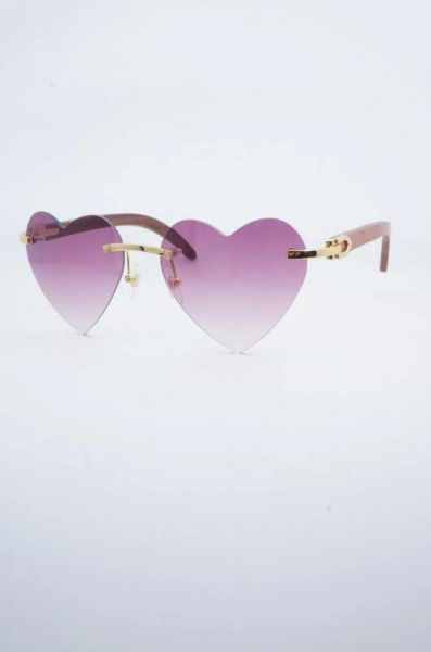 6eed7a2fbd2 Ladies NEW 2018 Wood Cartier Pink Heart Buffalo Horn Sunglasses (Free  Express Shipping)