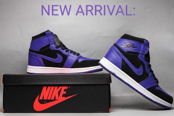 Nike Air Jordan 1 Premium Black Dark Concord 554724-051 Special Limited Edition)
