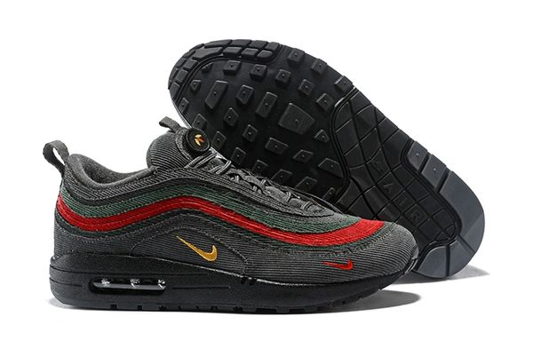 NEW Grey Black Red Nike Air Max 1/97 VF SW Sean Wotherspoon Running Shoe (Special Limited Edition)