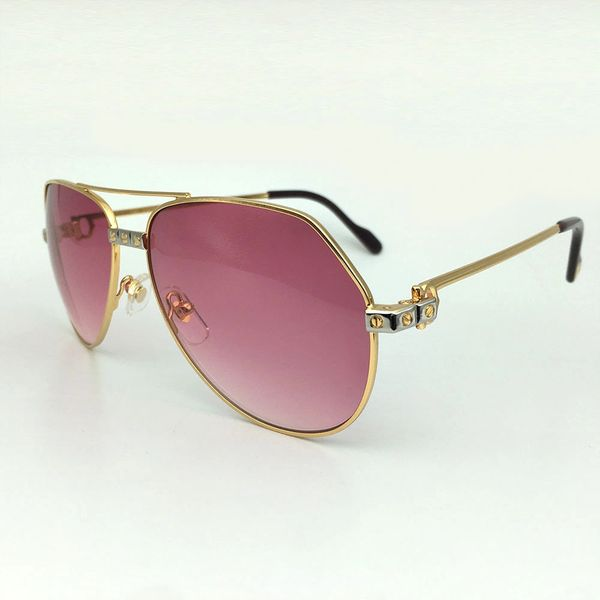 Ladies Gold Pink Cartier Metal Aviator Sunglasses Catalog 20 (Free Express Shipping)