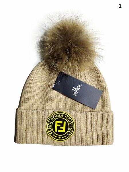 NEW Winter Original Fendi Knit Wool Hat Catalog 1 (With Pom)