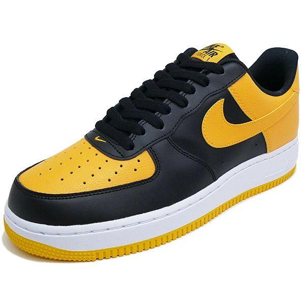 Men's Nike Air Force 1 Low Black & University Gold Sneakers