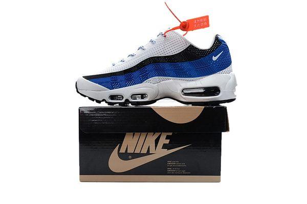 Men's Nike Air Max 95 iD White/Blue/Black Shoes
