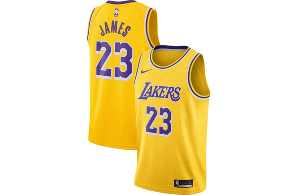 Lebron James Gold Icon Edition Swingman Jersey (Los Angeles Lakers)
