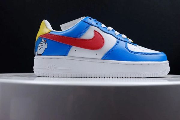 Ladies Nike Air Force 1 Low Custom iD Doraemon Sneakers (Limited Edition)