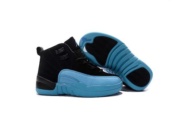 "Air Jordan 12 Retro Bg (Gs) Black/Gym Red/Gamma Blue Little Kids' Shoe ""Gamma"""