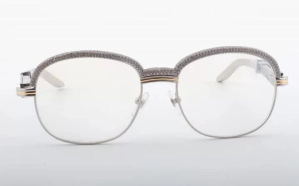 NEW Unisex Silver/White Diamond Plated Cartier Malmaison Palisander Glasses (Special Edition) (Free 3-7 Day Shipping)