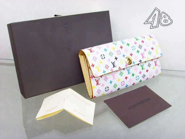 Ladies Louis Vuitton Custom Multicolor International Wallet