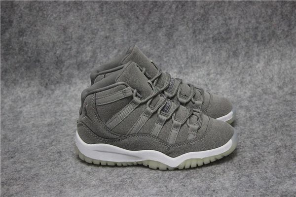 Air Jordan 11 Retro Bg (Gs) Grey/White Little Kids' Shoe