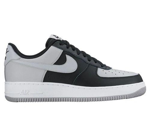 Men's Nike Air Force 1 Low Wolf Grey & Black Sneakers