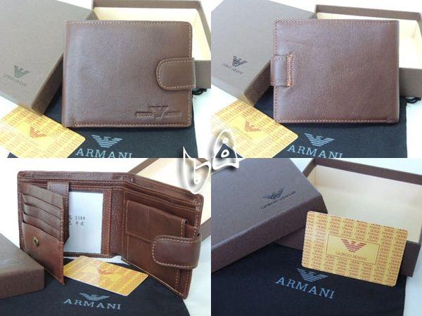 Men's Armani Custom Leather Bi-fold Wallet C