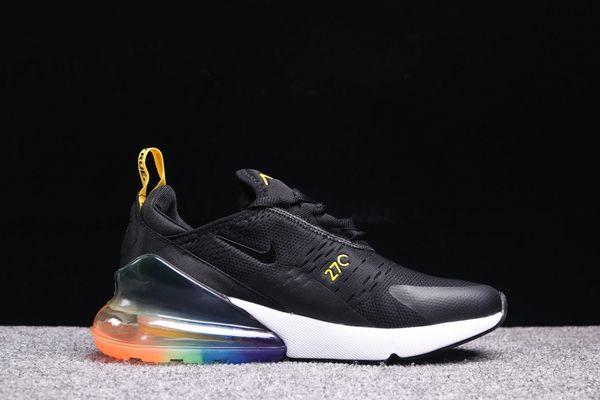 61147253d8b Nike Black Gold  Skittle  Air Max 270 Running Shoe