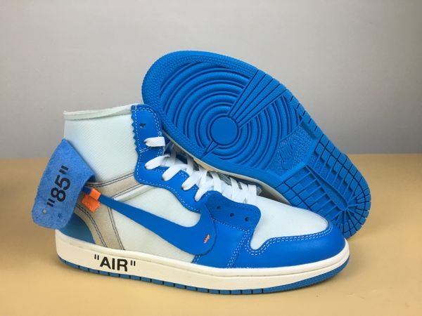 NEW Off-White x Air Jordan 1 Retro High 'UNC' Sneakers (NOT RELEASED IN STORES YET) (EXPRESS DELIVERY AVAILABLE)