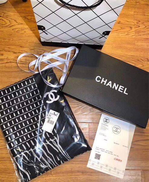 NEW Original Chanel Cashmere Scarf Catalog 1