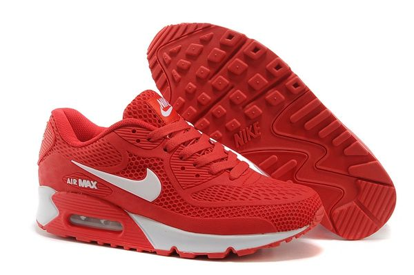 Ladies Retro Nike Air Max 90 Red/White Sneakers