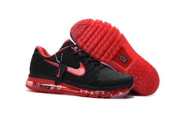Men's Nike 2017 Black/Red Air Max Running Shoe
