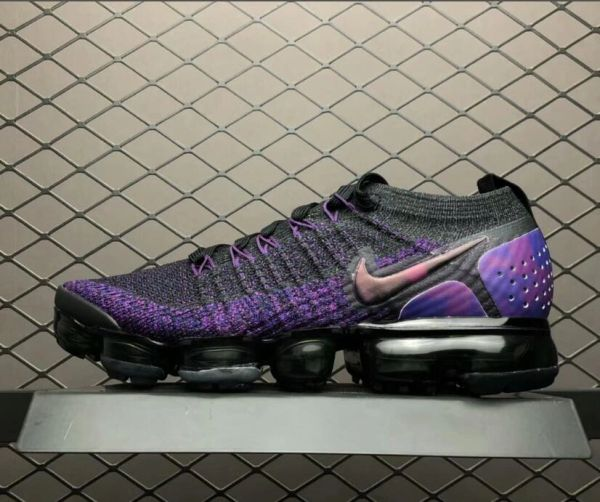 newest 180ee ab686 NEW Nike Air VaporMax Flyknit 2 Purple/Black Running Shoe (Up To Ladies  Size USA 13)