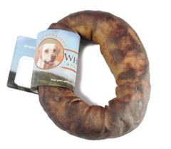 """4-5"""" Wholesome Hide USA Rawhide Donut 6-Pack"""