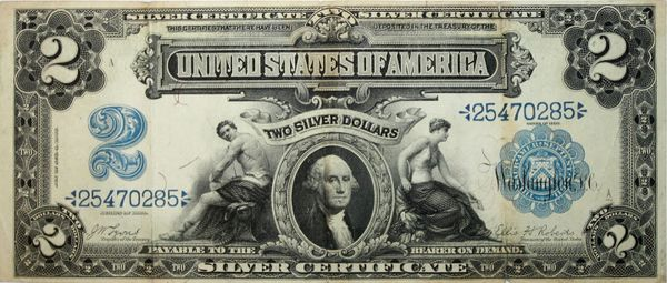 1899 Two dollar silver certificate | Crown Jewel Coins and ...