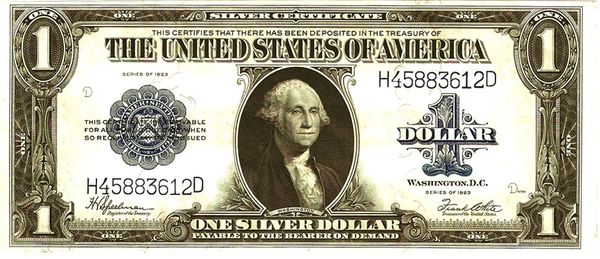 1923 one dollar Silver Certificate   Crown Jewel Coins and ...