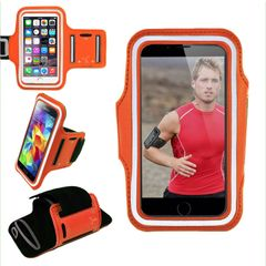 Armband, Universal Premium Water Resistant Jogging Sport Armband with Key Holder for Smart Phone, Orange