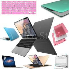 Hard Case for Apple The New Macbook 12 inch Retina Display Laptop + Screen Protector + Silicone Keyboard Cover Protector