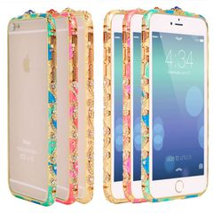 3D Luxury Crystal Diamond Bling Metal Case Cover Bumper For iPhone 6 and iPhone 6 Plus