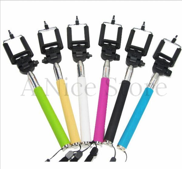 Bluetooth Extendable Selfie Handheld Stick Monopod Holder For iPhone Samsung DH