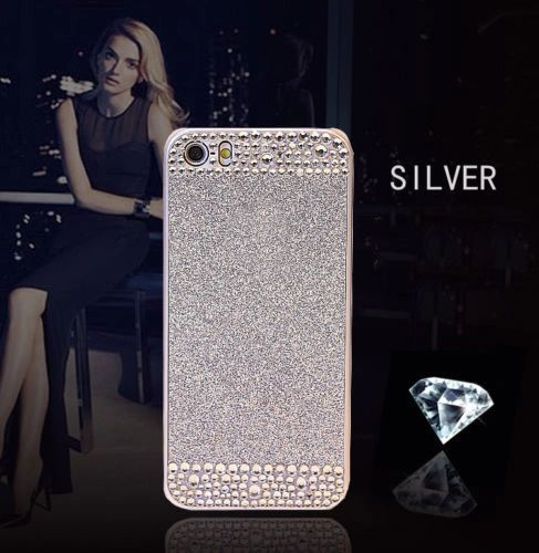 iPhone 5C Glitter Bling Case,Luxury Slim 3D Bling Handmade Case for iPhone C, SIL