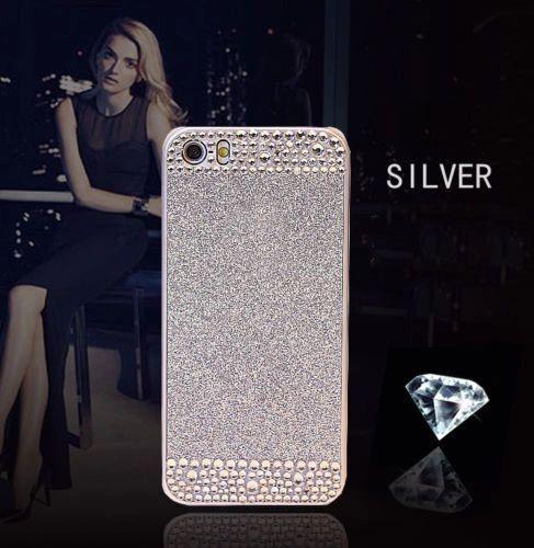 iPhone SE Glitter Bling Case,Luxury Slim 3D Bling Handmade Case for iPhone SE, Silver