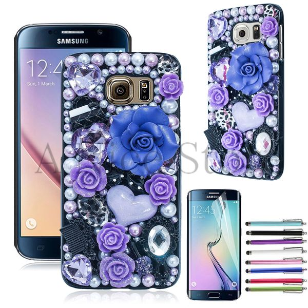 Samsung Galaxy S6 Edge Luxury 3D New Bling Handmade Flower Fairy Design Case