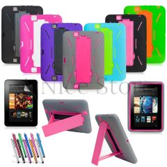 Amazon Kindle Fire HD 7 2012 Gen Hybrid Heavy Duty Kickstand Hard Soft Case Cover
