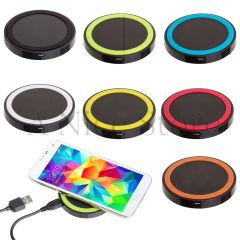 New Universal Qi Wireless Battery Charging Power Charger Pad For Smart Phone
