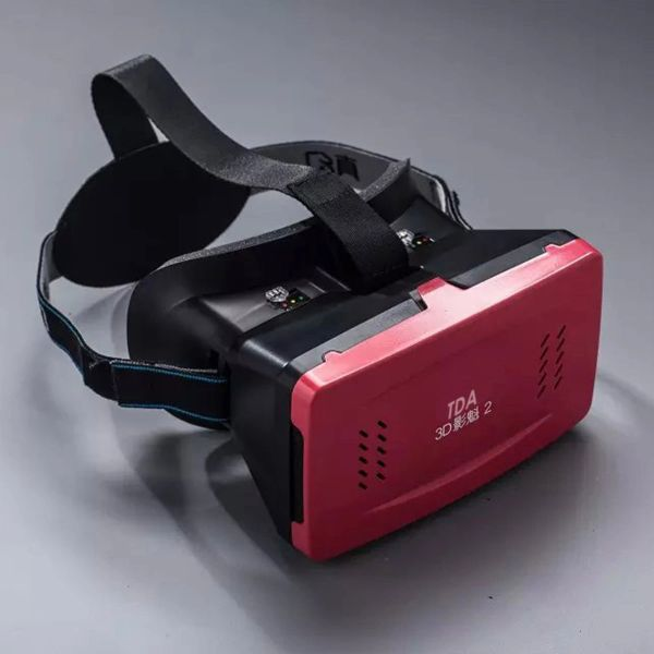 3D VR Headset, Virtual Reality 3D Video Glasses Head Mount with Comfortable Headband [Fit All Smartphone from 3.5 to 6 inches] for 3D Movies and Games (Red)