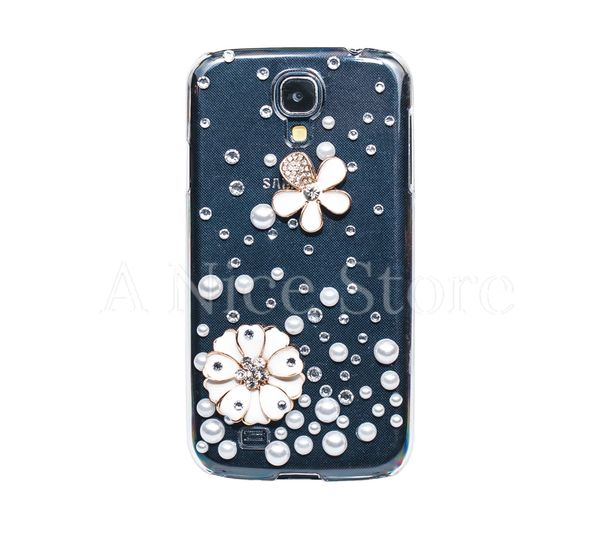 Samsung Galaxy S4 Luxury 3D New Bling Handmade Crystal Glitter Lily Design Case
