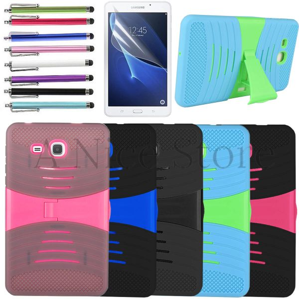 """Tab A 7"""" Hybrid Dual Protection Tablet Case with Built in Kickstand"""