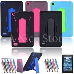 Amazon Fire 7 2015 5th Gen Hybrid Heavy Duty Kickstand Hard Soft Case Cover
