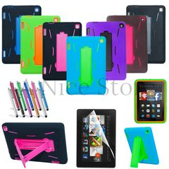 Amazon Kindle Fire HD 7 2014 Gen Hybrid Heavy Duty Kickstand Hard Soft Case Cover