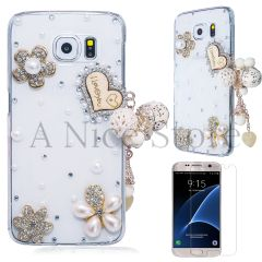 Samsung Galaxy S7 Edge Luxury 3D New Bling Handmade I Love You With Heart Case