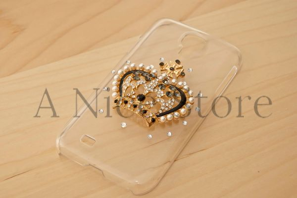 Samsung Galaxy S4 Diamond Bling Bling 3D Princess Crown Clear Case