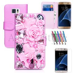 Samsung Galaxy S7 Luxury Magnetic Flip 3D Bling Handmade Fairy Tale Leather Flip Wallet Case