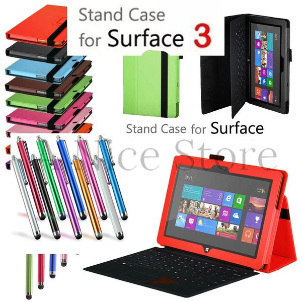 Microsoft Surface 3 Premium PU Leather Folding Folio Stand Case