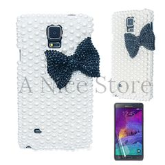 Galaxy Note 4 Luxury 3D New Bling Handmade Pearl Bowknot Case