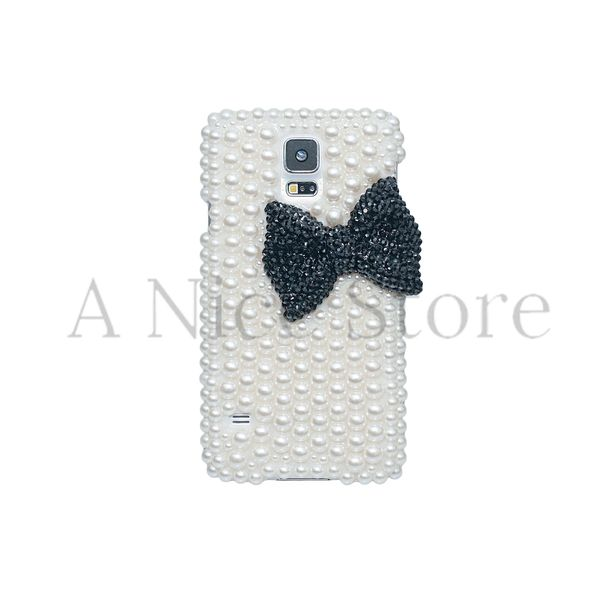Samsung Galaxy S5 Luxury Handmade Pearl Case with Big Bow
