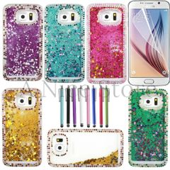 Samsung Galaxy S6 New Luxury Liquid 3D Bling Handmade Quicksand Diamond Glitter Sparkle Case