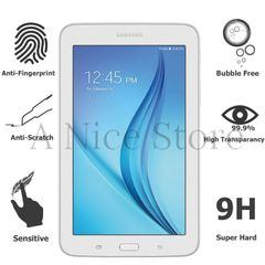 Samsung Galaxy Tab 3 Lite 7.0 Tempered Glass Screen Protector, Bubble Free Scratch-Resistant