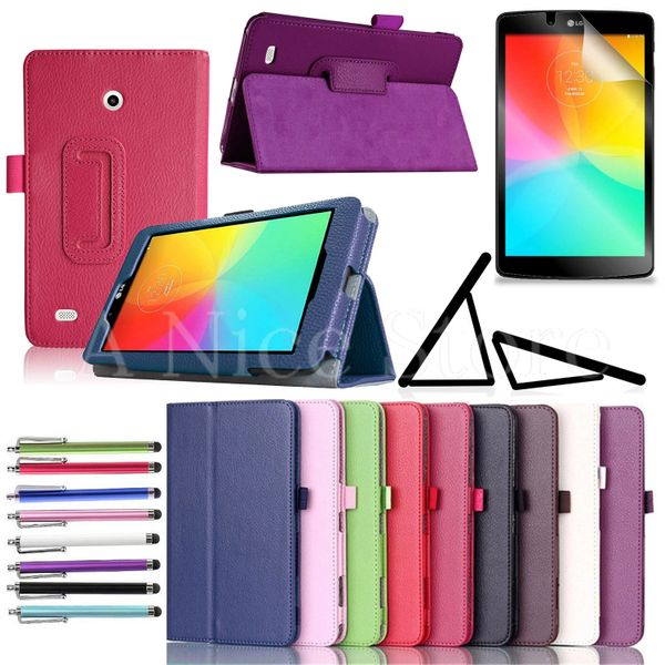 """Lg G Pad F 7.0"""" / G Pad 7.0"""" PU Leather Cover Case"""