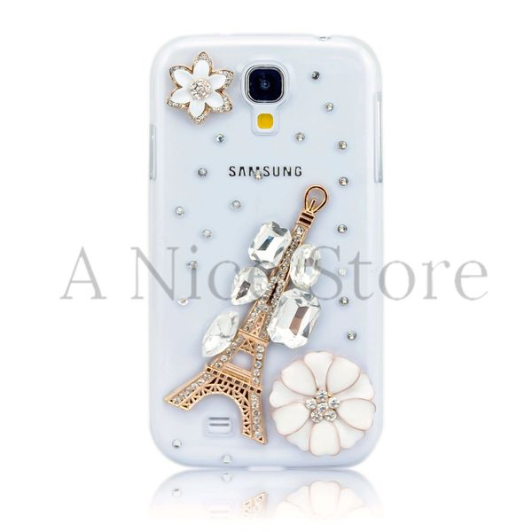 Samsung Galaxy S4 Luxury 3D New Bling Handmade Crystal Glitter Paris Tower Design Case